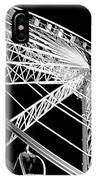 Ferris Wheel Against Black Sky IPhone Case
