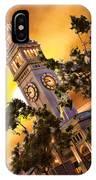 Ferry Building Golden Sun IPhone Case