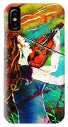Fiddling Toward The Sun IPhone Case