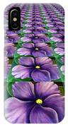 Field Of African Violets IPhone Case