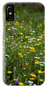 Field Of Mixed Flowers IPhone Case