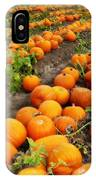 Field Of Pumpkins Card IPhone Case