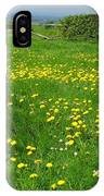 Field With Yellow Flowers IPhone Case