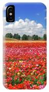 Fields Of Flowers At Nir Banim IPhone Case