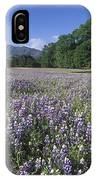 Fields Of Lupine And Owl Clover IPhone Case