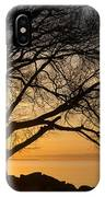 Fiery Sunrise - Like A Golden Portal To Another World IPhone Case