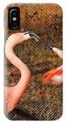 Fighting Flamingos IPhone Case