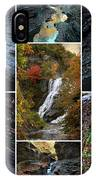 Finger Lakes Gorges Collage IPhone Case
