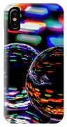 Finger Light Painted Glass Ball Abstract IPhone Case