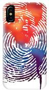 Finger Print Map Of The World IPhone Case