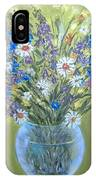 Field Flowers In A Transparent Jug IPhone Case