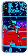 Fire Engine Red In Blue IPhone Case