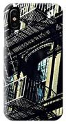 Fire Escape On Franklin Street 2 IPhone Case