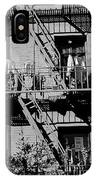 Fire Escape With Clothes Hung To Dry IPhone Case