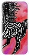 Fire Horse Burn 4 IPhone Case