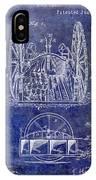 Fire Hose Cart Patent Blue IPhone X Case