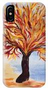 Fire Tree IPhone Case