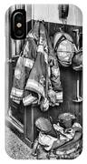 Fireman - Always Ready - Black And White IPhone Case