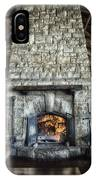 Fireplace At The Lodge Vertical IPhone Case