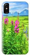 Fireweed In The Foreground 2 IPhone Case