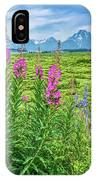 Fireweed In The Foreground IPhone Case