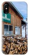 Firewood Ready To Burn In Fire Place IPhone Case