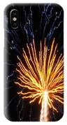 Firework Blue And Gold IPhone Case