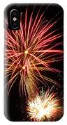 Firework Pink And Gold IPhone Case