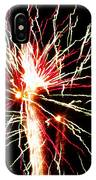 Firework Pink And Green Streaks IPhone Case