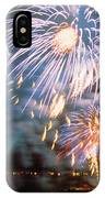 Fireworks Blue IPhone Case