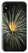 Fireworks Green Flower  IPhone Case