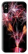 Fireworks Over Lake #15 IPhone Case