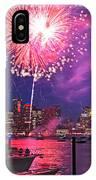 Fireworks Over The Boston Skyline Boston Harbor Illumination IPhone Case