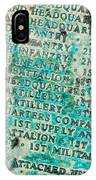 First Infantry Division Memorial Plaque IPhone Case