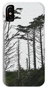 First Line Trees Along The Pacific Ocean IPhone Case