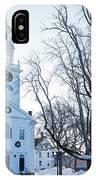First Parish Church Manchester Ma North Winter Snow IPhone Case