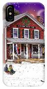 First Snow At The South Woodstock Country Store IPhone Case