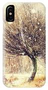 First Snow. Snow Flakes IPhone Case