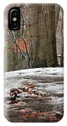 First Snowfall - A Walk In The Woods IPhone Case