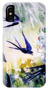First Swallows Of Summer  IPhone Case