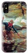 Fisherman By Stream IPhone Case