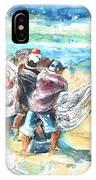 Fishermen In Praia De Mira IPhone Case