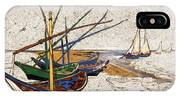 Fishing Boats Van Gogh Digital Art IPhone Case
