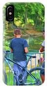 Fishing Friends, Azay Le Rideau, Loire Valley, France IPhone Case