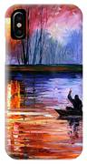 Fishing On The Lake  IPhone Case