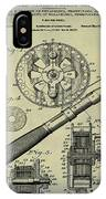 Fishing Reel Patent 1906 Vintage IPhone Case