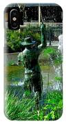 Fishing Statue IPhone Case
