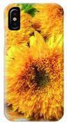 Five Exotic Sunflowers IPhone Case