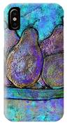 Five Pears On A Platter IPhone Case