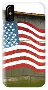 Flag And Barn - Painting IPhone Case